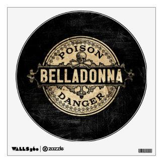 Belladonna Vintage Style Poison Label Wall Sticker