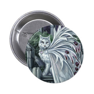 Belladonna White Fairy Cat Button