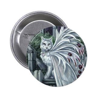 Belladonna White Fairy Cat Button