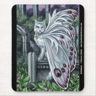 Belladonna White Fairy Cat Mousepad