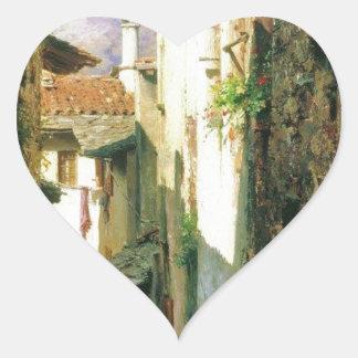Bellagio by Fyodor Bronnikov Heart Sticker