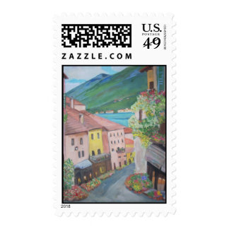 Bellagio, by Teresa Dominici Postage Stamp