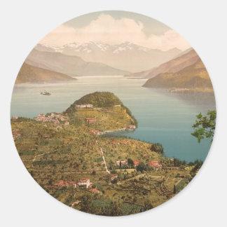 Bellagio (general view) classic round sticker