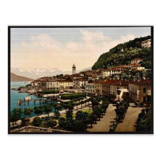 Bellagio, general view, Como, Lake of, Italy vinta Postcard