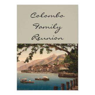 """Bellagio I, lago Como, Lombardía, Italia Invitación 5"""" X 7"""""""