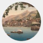 Bellagio I, lago Como, Lombardía, Italia Pegatina Redonda