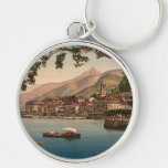 Bellagio I, Lake Como, Lombardy, Italy Silver-Colored Round Keychain