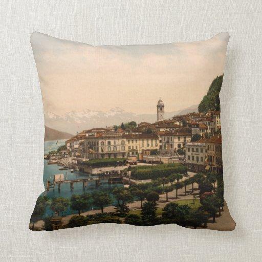 Bellagio II, Lake Como, Lombardy, Italy Throw Pillows