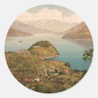 Bellagio IV, Lake Como, Lombardy, Italy Classic Round Sticker