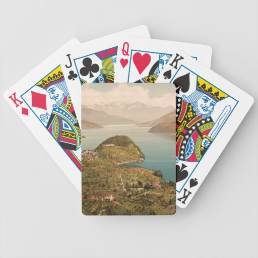 Bellagio IV, Lake Como, Lombardy, Italy Bicycle Poker Deck