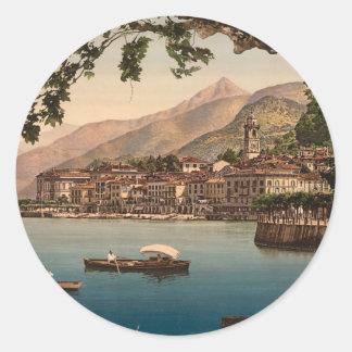 Bellagio, Lake Como Classic Round Sticker