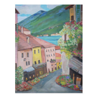 Bellagio town, Italy Postcard