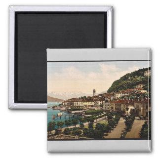 Bellagio, visión general, Como, lago de, vinta de  Iman Para Frigorífico