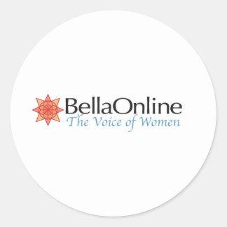 BellaOnline Etiqueta Redonda