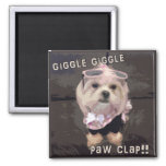 Bella's Giggle Giggle Paw Clap Magnet