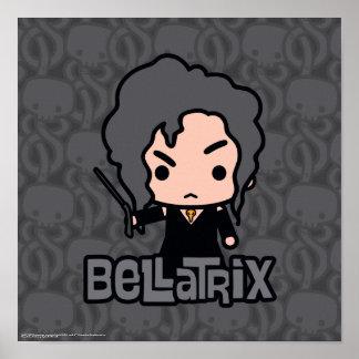 Bellatrix Cartoon Character Art Poster
