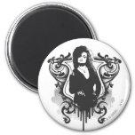 Bellatrix Lestrange Dark Arts Design 2 Inch Round Magnet