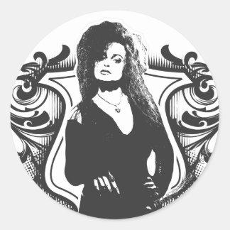 Bellatrix Lestrange Dark Arts Design Classic Round Sticker