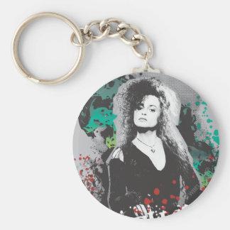 Bellatrix Lestrange Graphic Logo Basic Round Button Keychain