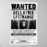 Bellatrix Lestrange Wanted Poster