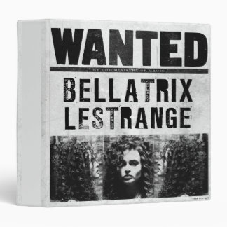 Bellatrix Lestrange Wanted Poster Binder