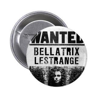 Bellatrix Lestrange Wanted Poster Pinback Button