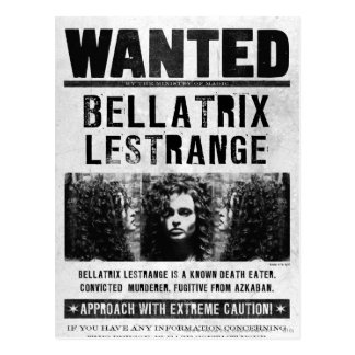 Bellatrix Lestrange Wanted Poster Postcards