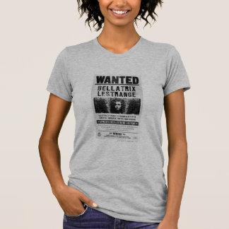Bellatrix Lestrange Wanted Poster Tee Shirt