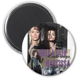 Bellatrix Lestrange y Narcissa Malfoy Imán Redondo 5 Cm