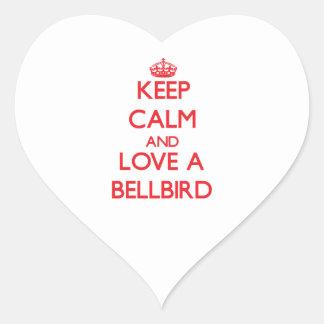 Bellbird Heart Sticker