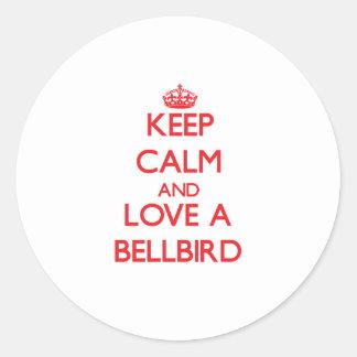 Bellbird Round Stickers