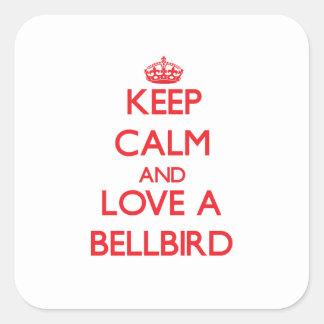 Bellbird Square Stickers