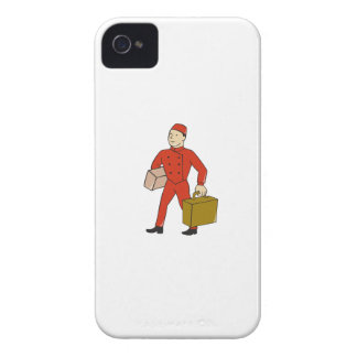 Bellboy Bellhop Carry Luggage Cartoon Case-Mate iPhone 4 Cases