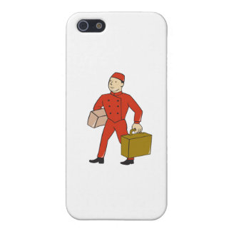 Bellboy Bellhop Carry Luggage Cartoon Cover For iPhone SE/5/5s