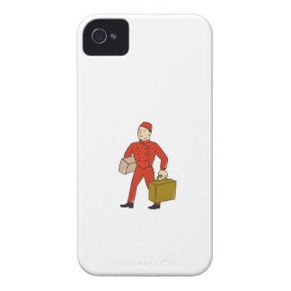 Bellboy Bellhop Carry Luggage Cartoon iPhone 4 Case