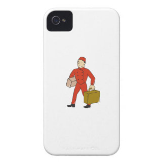 Bellboy Bellhop Carry Luggage Cartoon iPhone 4 Cover