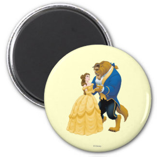 Belle and Beast Dancing 2 Inch Round Magnet