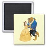 Belle and Beast Dancing 2 Inch Square Magnet