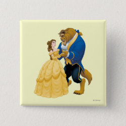 Beauty and the Beast dancing Square Button