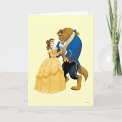 with Beauty and the Beast dancing design