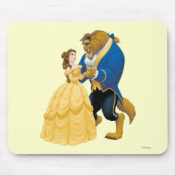 Mousepad with Beauty and the Beast dancing design