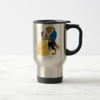 Belle and Beast Dancing 15 Oz Stainless Steel Travel Mug