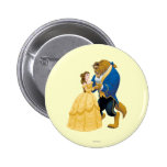 Belle and Beast Dancing Pinback Button