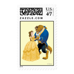 Medium Stamp 2.1' x 1.3' with Beauty and the Beast dancing design