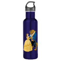Belle and Beast Dancing Stainless Steel Water Bottle