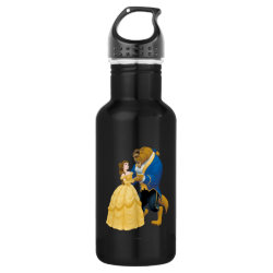 Water Bottle (24 oz) with Beauty and the Beast dancing design