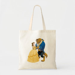 Budget Tote with Beauty and the Beast dancing design