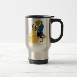 Travel / Commuter Mug with Beauty and the Beast dancing design