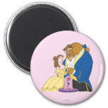 Belle and Beast Holding Hands 2 Inch Round Magnet