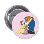 Belle and Beast Holding Hands Buttons